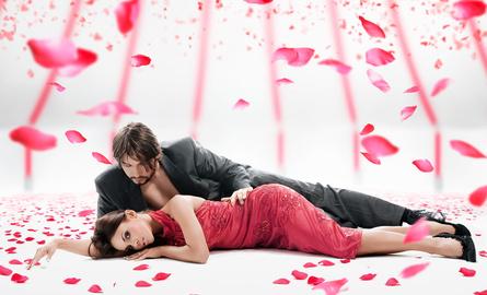 Valentinstag-einen Tag auf den Wolken schweben